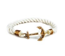 The American Sailor Anker Armband Weiss