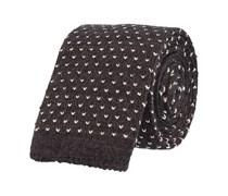 Schmale Krawatte Wolle Anthrazit