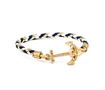 Dawn Treader Anker Armband Gold-Blau-Weiss