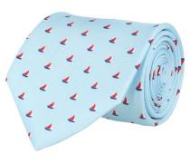 Krawatte Blau Segelboote