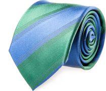 Krawatte Seide Grün Blau Fischgrat
