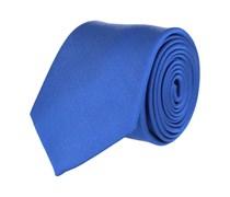 Klassische Seidenkrawatte Blau - Basic