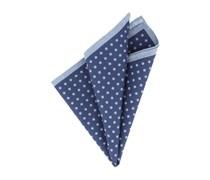 Einstecktuch Navy-Blau Polka Dot