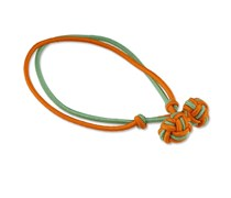 Knotenarmband Orange-Hellgrün