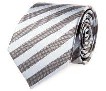 Krawatte Seide Grau Anthrazit Gestreift