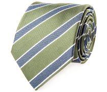 Seiden Krawatte Grün Blau Gestreift