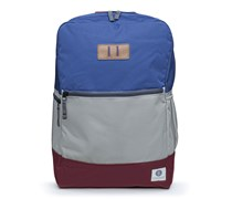 Rucksack Neville Navy/Light-Grey/Maroon