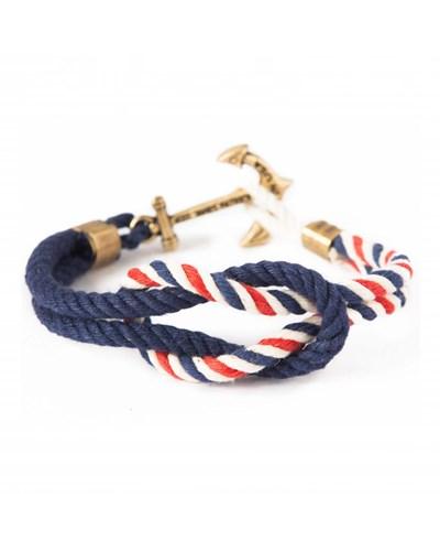 American Coast Anker Armband Marine-Rot-Weiss