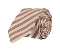 Schmale Krawatte Rot Weiss Gestreift
