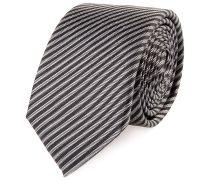 Krawatte Schmal Braun Schwarz Gestreift
