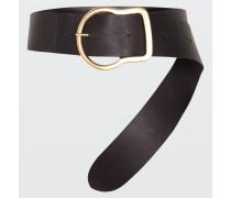 DECORATED MIXTURES 6cm buckle belt 90