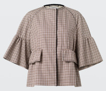 JOYOUS CHECK jacket sleeve 3/4 2