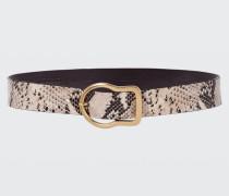 BUCKLED BEAUTIES 4cm buckle belt 90