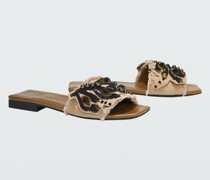 EMBROIDERED DREAMS canvas flat sandal