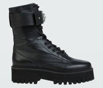 JEWELLED DESIRE combat boot 38