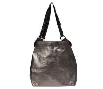 METAL TOUCH multi buckle metallic tote