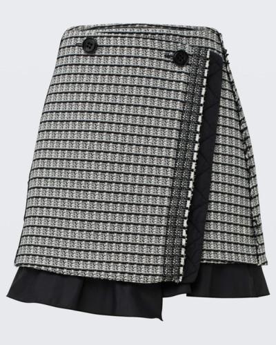 POETIC CONTRAST mini wrap skirt 2