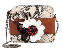 FLORAL ATTRACTION small embroidered bag with removable chain
