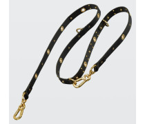 LEATHER LUX studded leash (2cm)