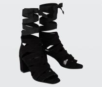 FEMININE SOFTNESS ankle tie wrap sandal (7cm) 36