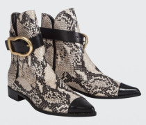 BUCKLED BEAUTIES pointed buckle boot 38