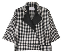 COOL CHECK jacket cape sleeve