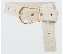 CHUNKY SOFTNESS curly wool belt cm