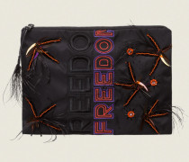 FREE ADVENTURE 'Freedom' embroidery clutch bag