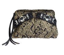 BOLD STATEMENTS embroidered jacquard clutch bag