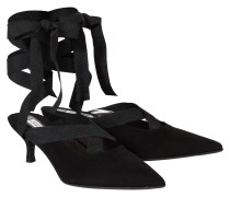 FEMININE SOFTNESS ankle tie kitten heel (5cm)