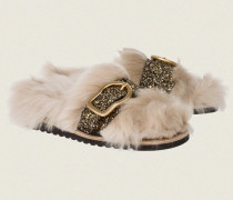TOUCH OF SPARKLE glitter strap footbed 38