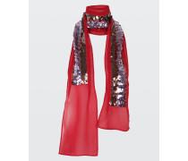 STRIPE DELUXE sequin embellished scarf