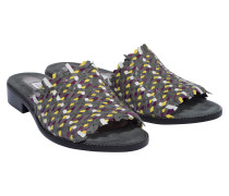WOVEN WONDERS woven leather flat sandal