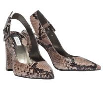 EXOTIC EDGE chunky heel sling- back, 10 cm