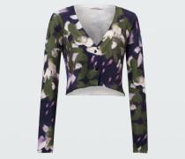 FLORAL SOFTNESS cardigan v-neck /