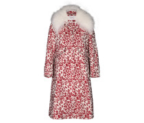 GLEAMING DREAM dresscoat with detachable fur collar