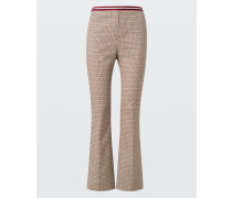 SPORTY CHECK flared pants 2