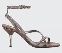 LUXURIOUS LIZARD Lizard Mix Sandal 8cm 38