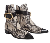 BUCKLED BEAUTIES pointed buckle boot