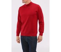 Big Size, Herren Stehkragen-Pullover, Merinowolle Superwash