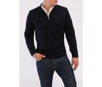 Herren Pullover Polokragen Zip, Merinwolle Superwash, Classic Fit