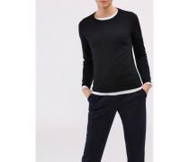 Damen Pullover Rundhals, Merino Basic