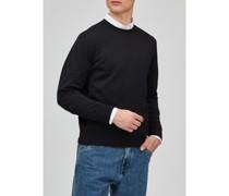 Big Size, Herren Rundhals-Pullover, Merinowolle Superwash