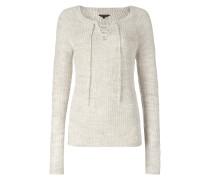 Pullover mit Rundhalsausschnitt und Schnürung