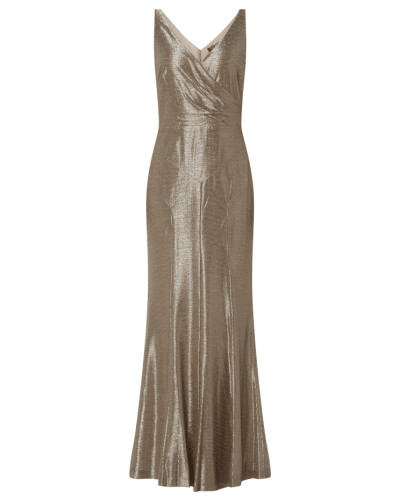 Abendkleid in Metallic-Optik