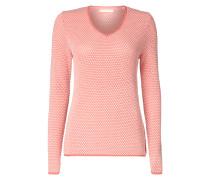 Pullover mit zweifarbigem Maschenbild