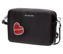 Crossbody Bag aus Leder mit Herz-Aufnäher