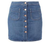 Jeansrock mit Knopfleiste und Taschen