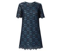 Kleid aus Mesh mit floralen Zierborten