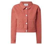 Jeansjacke mit überschnittenen Schultern Modell 'Daisy'